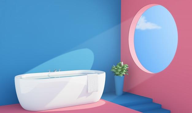 Interno bagno colorato