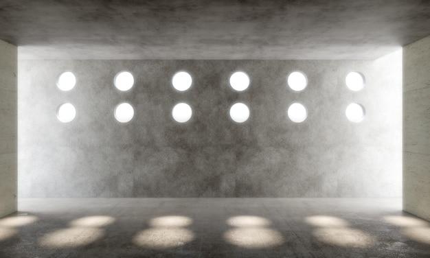 Interno con finestre circolari
