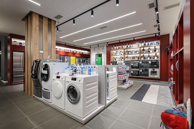 Interno del negozio di elettrodomestici premium