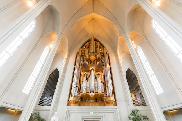 Interno della cattedrale di hallgrimskirkja