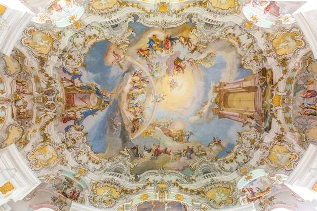 Interno della chiesa di pellegrinaggio in germania