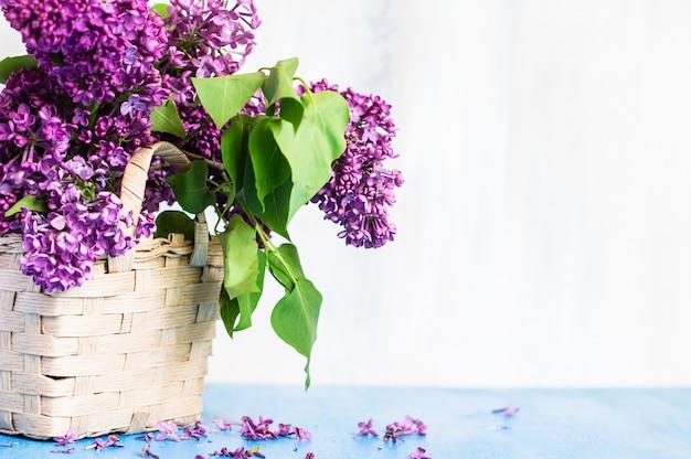 Interno di tempo di primavera con lilla