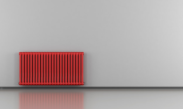 Interno grigio con radiatore rosso