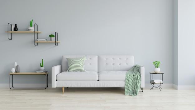 Interno moderno e minimalista del salotto
