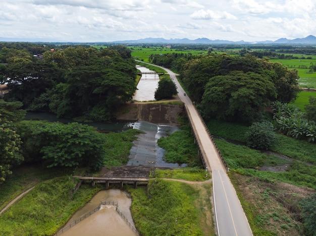 Intersezione canale dell'acqua