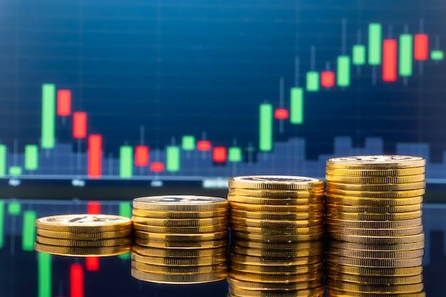 Investimento e commercio del mercato azionario.