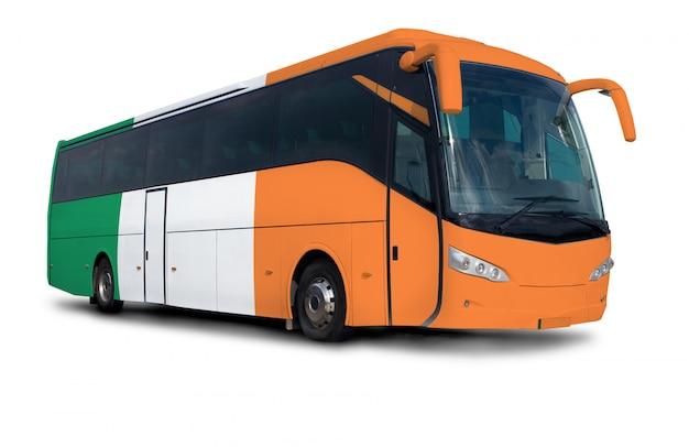 Irish flag bus