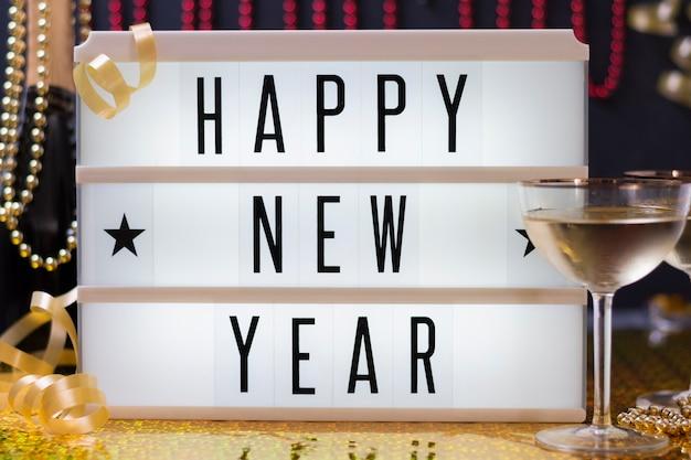 Iscriviti con felice anno nuovo desiderio