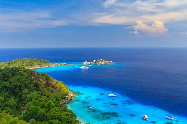 Isola di similan al mare delle andamane, phuket, tailandia