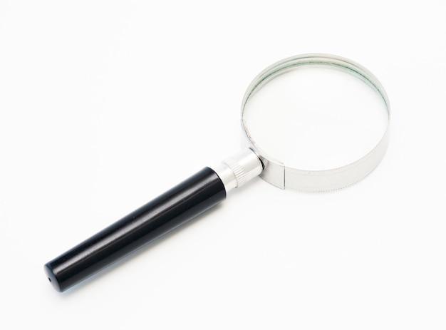 Isolato del vetro della lente su bianco