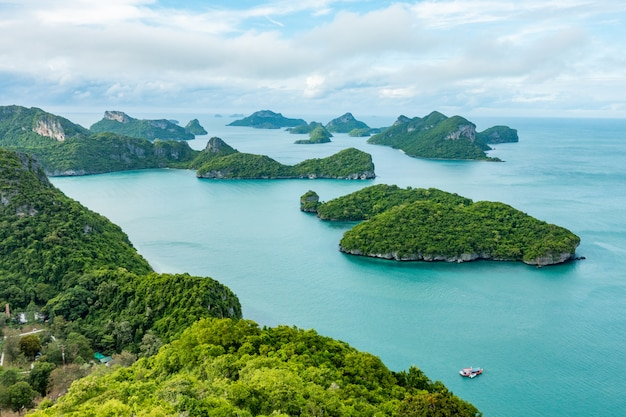 Isole angthong, koh samui, suratthani, tailandia