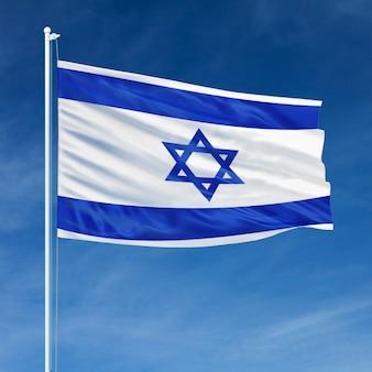 Israel flag flying