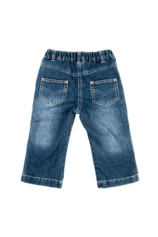 Jeans isolati su sfondo bianco