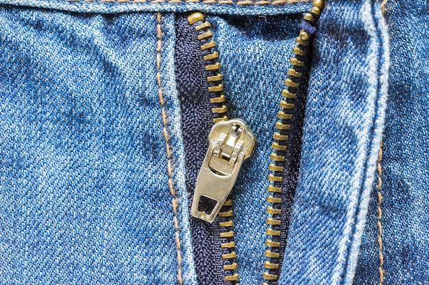 Jeans zipper pantaloni crash