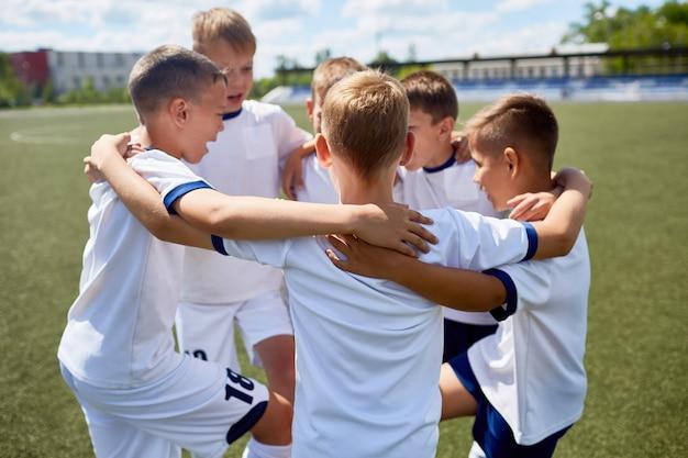 Junior football team united