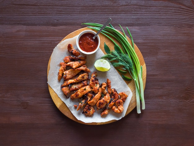 Kerala chicken pakoda. yummy pakora preparati in stile sud indiano