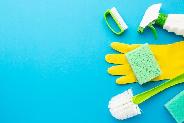Kit di igiene con copia spazio