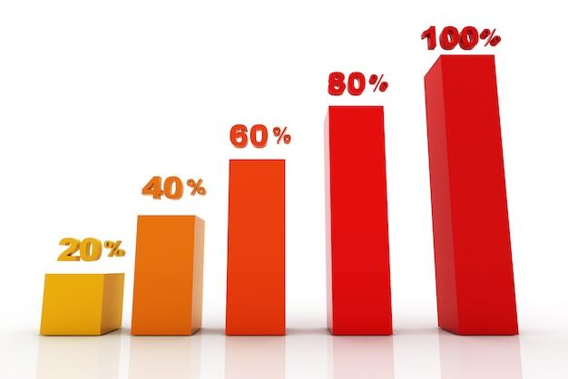 L'affare moderno fa un passo verso l'insegna di opzioni dei grafici e di grafici di successo - illustrazione