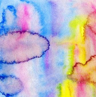L'arcobaleno colora il fondo dell'acquerello. pittura ad acquerello brillante. sfondo creativo