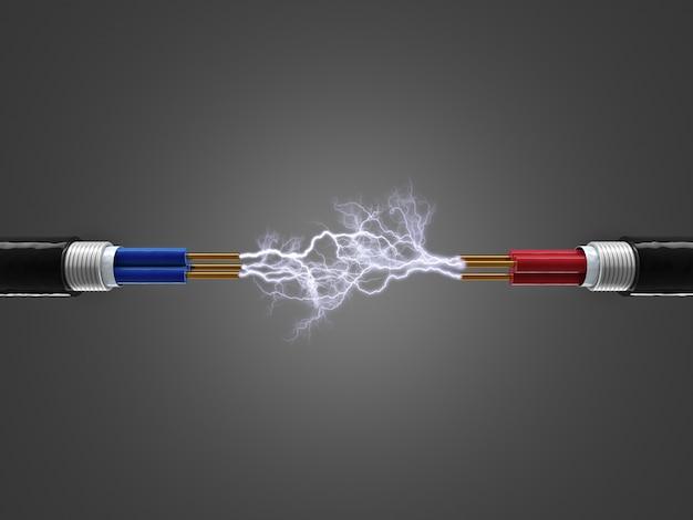 L'elettricità accende il cavo