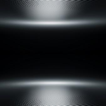 L'immagine 3d rende di una struttura della fibra del carbonio