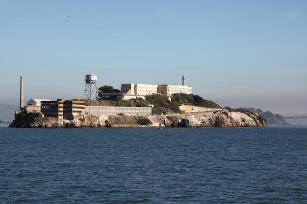 L'isola di alcatraz a sanfrancisco, in california, usa