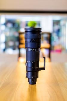 L'obiettivo della fotocamera è un occhio per la fotocamera. situato a bandung, in indonesia