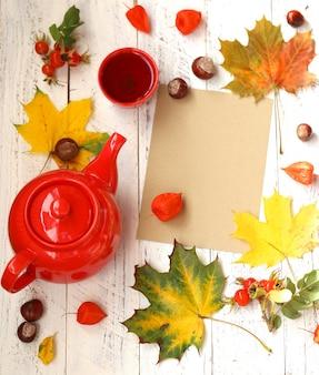 L'ora del tè in autunno