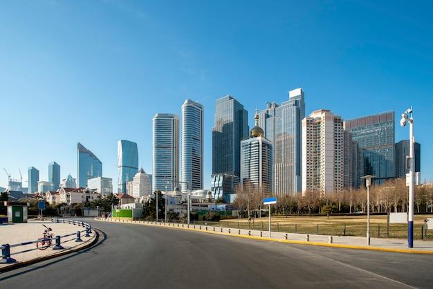 L'orizzonte del paesaggio architettonico di qingdao seaside city