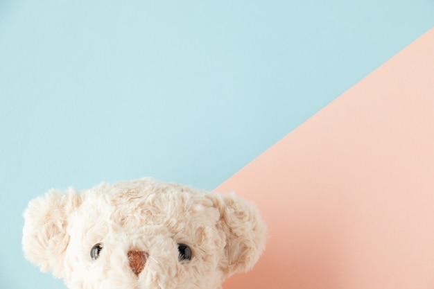 L'orsacchiotto riguarda il fondo pastello di carta
