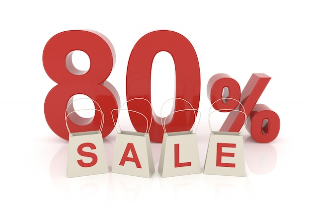 L'ottanta per cento di vendita