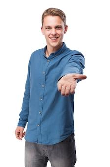 L'uomo con la mano tesa