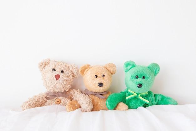 La banda di orsacchiotto che si abbraccia con amore il giorno di san valentino