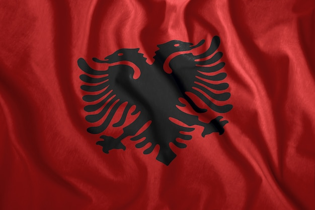 La bandiera albanese