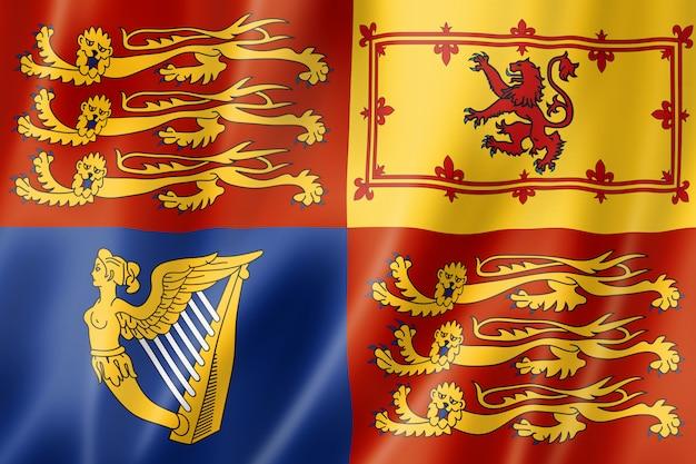 La bandiera royal standard del regno unito