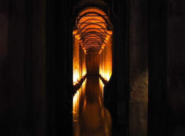 La bella cisterna basilica è stata aperta ai visitatori dopo il restauro.
