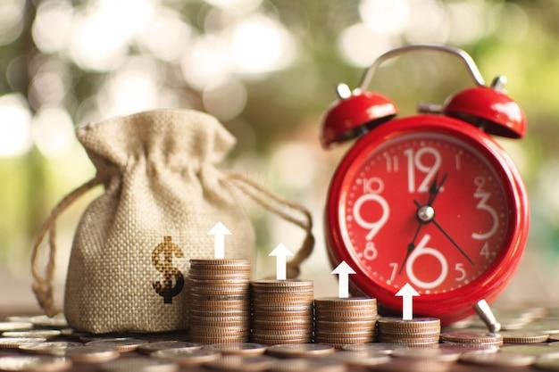 La borsa dei soldi con le monete.