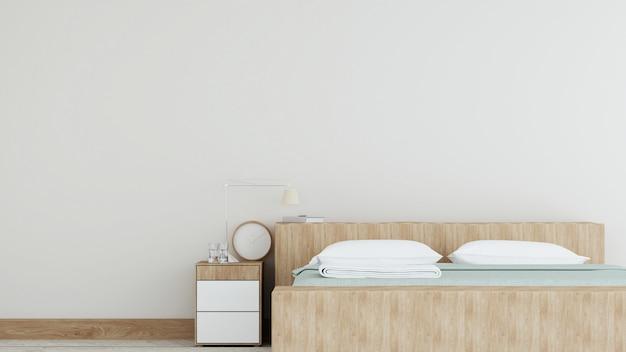La camera da letto interna nella rappresentazione dell'hotel 3d