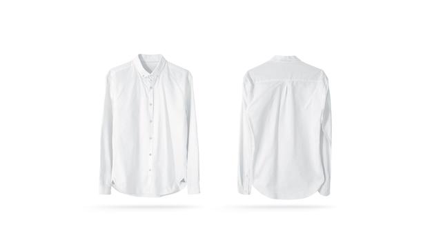 La camicia degli uomini classici bianca in bianco isolata