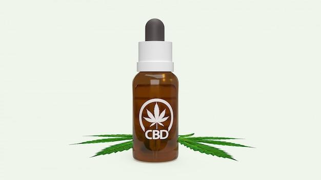 La canapa medica a base di olio di canapa con olio di cbd