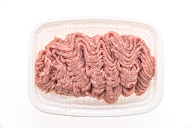 La carne macinata per hamburger