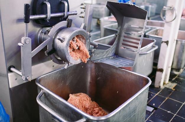 La carne nel macinino. l'industria della carne.