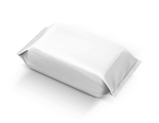 La carta di imballaggio in bianco pulisce il sacchetto isolato