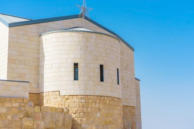 La chiesa commemorativa di mosè sul monte nebo, in giordania