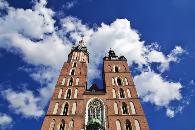 La chiesa di cracovia, in polonia