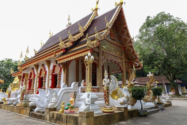 La chiesa principale di wat phra that doi-tung è famosa a chiang rai, in thailandia