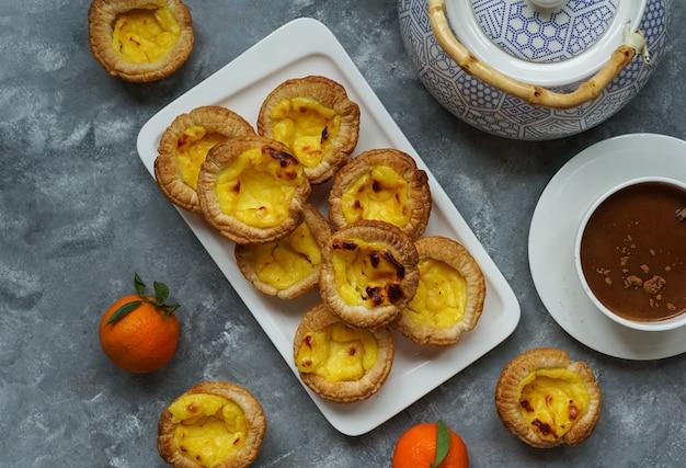 La crostata portoghese è una pasta portoghese all'uovo