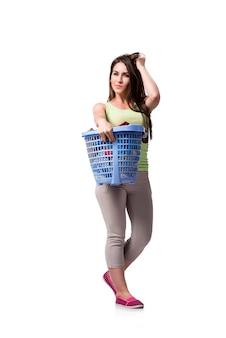 La donna si sente sornata dopo aver fatto il bucato sporco
