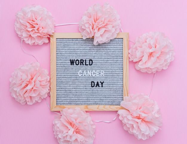 La giornata mondiale del cancro è il 4 ° mese di sensibilizzazione