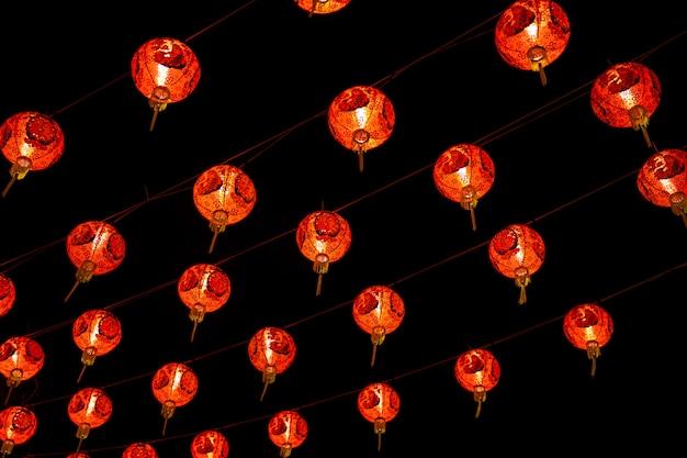 La lanterna rossa cinese decora per il nuovo anno cinese, cinese tradizionale per cinese